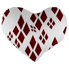 Harley Quinn Logo Large 19  Premium Heart Shape Cushions by Celenk