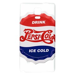 Pepsi Cola Bottle Cap Style Metal Galaxy Note 4 Back Case by Celenk