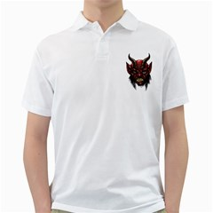 Krampus Devil Face Golf Shirts
