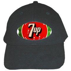 Fresh Up With  7 Up Bottle Cap Tin Metal Black Cap by Celenk