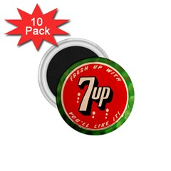 Fresh Up With  7 Up Bottle Cap Tin Metal 1 75  Magnets (10 Pack)  by Celenk