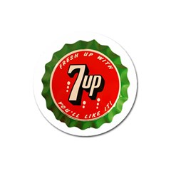 Fresh Up With  7 Up Bottle Cap Tin Metal Magnet 3  (round) by Celenk