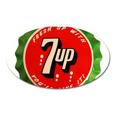 Fresh Up With  7 Up Bottle Cap Tin Metal Oval Magnet by Celenk