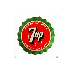 Fresh Up With  7 Up Bottle Cap Tin Metal Square Magnet by Celenk