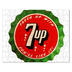Fresh Up With  7 Up Bottle Cap Tin Metal Rectangular Jigsaw Puzzl by Celenk