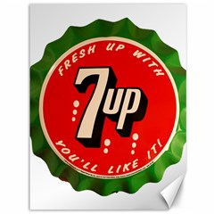 Fresh Up With  7 Up Bottle Cap Tin Metal Canvas 36  X 48   by Celenk