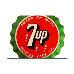 Fresh Up With  7 Up Bottle Cap Tin Metal Plate Mats by Celenk