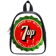 Fresh Up With  7 Up Bottle Cap Tin Metal School Bag (small) by Celenk
