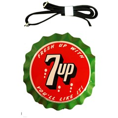 Fresh Up With  7 Up Bottle Cap Tin Metal Shoulder Sling Bags by Celenk
