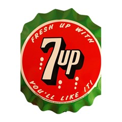Fresh Up With  7 Up Bottle Cap Tin Metal 5 5  X 8 5  Notebooks by Celenk