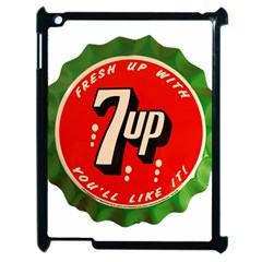 Fresh Up With  7 Up Bottle Cap Tin Metal Apple Ipad 2 Case (black) by Celenk
