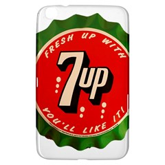 Fresh Up With  7 Up Bottle Cap Tin Metal Samsung Galaxy Tab 3 (8 ) T3100 Hardshell Case  by Celenk