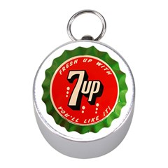 Fresh Up With  7 Up Bottle Cap Tin Metal Mini Silver Compasses by Celenk