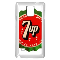 Fresh Up With  7 Up Bottle Cap Tin Metal Samsung Galaxy Note 4 Case (white) by Celenk