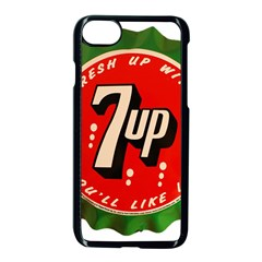 Fresh Up With  7 Up Bottle Cap Tin Metal Apple Iphone 7 Seamless Case (black) by Celenk
