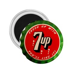 Fresh Up With  7 Up Bottle Cap Tin Metal 2 25  Magnets by Celenk