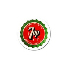 Fresh Up With  7 Up Bottle Cap Tin Metal Golf Ball Marker (4 Pack) by Celenk