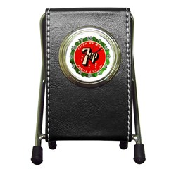 Fresh Up With  7 Up Bottle Cap Tin Metal Pen Holder Desk Clocks by Celenk