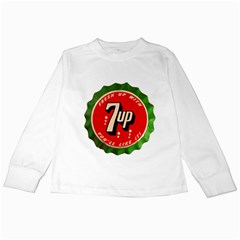 Fresh Up With  7 Up Bottle Cap Tin Metal Kids Long Sleeve T Shirts by Celenk