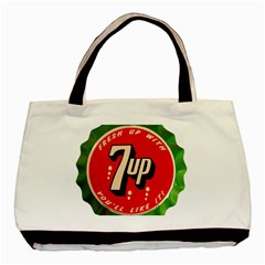 Fresh Up With  7 Up Bottle Cap Tin Metal Basic Tote Bag by Celenk