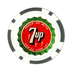 Fresh Up With  7 Up Bottle Cap Tin Metal Poker Chip Card Guard by Celenk