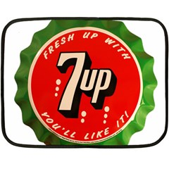 Fresh Up With  7 Up Bottle Cap Tin Metal Fleece Blanket (mini) by Celenk