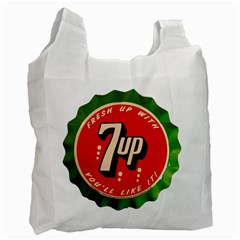 Fresh Up With  7 Up Bottle Cap Tin Metal Recycle Bag (one Side) by Celenk
