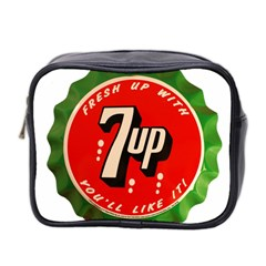 Fresh Up With  7 Up Bottle Cap Tin Metal Mini Toiletries Bag 2 Side by Celenk