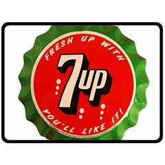 Fresh Up With  7 Up Bottle Cap Tin Metal Fleece Blanket (large)  by Celenk