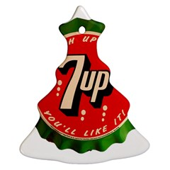 Fresh Up With  7 Up Bottle Cap Tin Metal Christmas Tree Ornament (two Sides) by Celenk