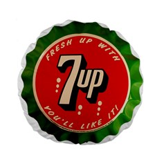 Fresh Up With  7 Up Bottle Cap Tin Metal Standard 15  Premium Round Cushions by Celenk