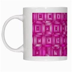 Classic Blocks,pink White Mugs by MoreColorsinLife