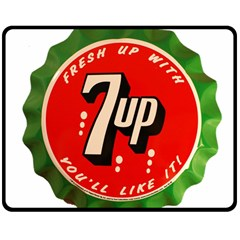 Fresh Up With  7 Up Bottle Cap Tin Metal Double Sided Fleece Blanket (medium)  by Celenk