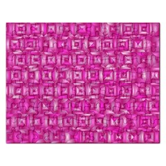 Classic Blocks,pink Rectangular Jigsaw Puzzl by MoreColorsinLife