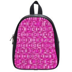 Classic Blocks,pink School Bag (small) by MoreColorsinLife