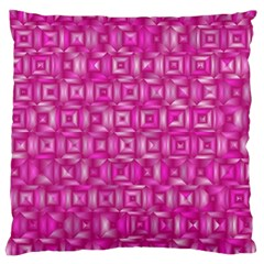 Classic Blocks,pink Large Cushion Case (two Sides) by MoreColorsinLife
