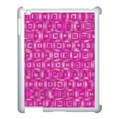 Classic Blocks,pink Apple Ipad 3/4 Case (white) by MoreColorsinLife