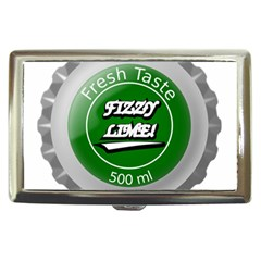 Fresh Taste Fizzy Lime Bottle Cap Cigarette Money Cases by Celenk