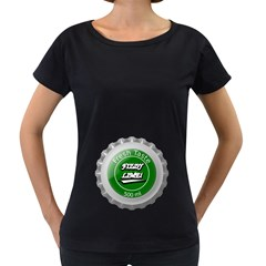 Fresh Taste Fizzy Lime Bottle Cap Women s Loose Fit T Shirt (black)