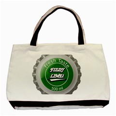 Fresh Taste Fizzy Lime Bottle Cap Basic Tote Bag by Celenk