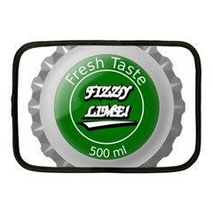 Fresh Taste Fizzy Lime Bottle Cap Netbook Case (medium)  by Celenk