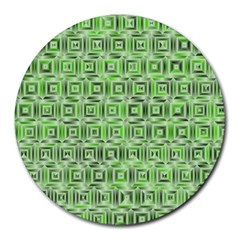 Classic Blocks,green Round Mousepads by MoreColorsinLife