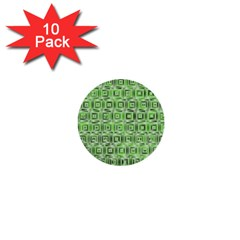 Classic Blocks,green 1  Mini Buttons (10 Pack)  by MoreColorsinLife