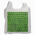 Classic Blocks,green Recycle Bag (Two Side)  Front