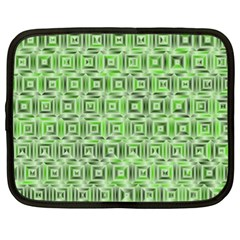 Classic Blocks,green Netbook Case (xl)  by MoreColorsinLife