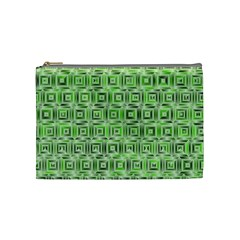 Classic Blocks,green Cosmetic Bag (medium)  by MoreColorsinLife