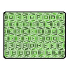 Classic Blocks,green Fleece Blanket (small) by MoreColorsinLife