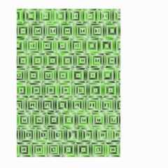 Classic Blocks,green Large Garden Flag (two Sides) by MoreColorsinLife