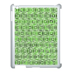Classic Blocks,green Apple Ipad 3/4 Case (white) by MoreColorsinLife