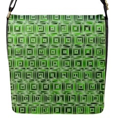 Classic Blocks,green Flap Messenger Bag (s) by MoreColorsinLife
